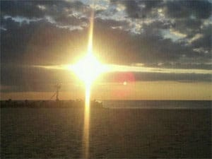 Faith represented by Beach Sunset